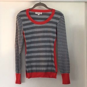 Long sleeved striped sweater size s
